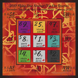 2017 year forecast. Flying star forecast 2017. Chinese hieroglyphs numbers. Translation of characters-numbers. Lo shu square. 2017 chinese feng shui calendar. 12 Stock Photo
