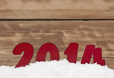 Year 2014 in fresh snow Stock Image