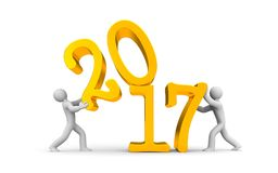 2017 year is in full swing Stock Images