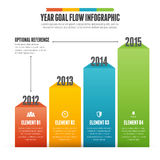 Year Goal Flow Infographic Stock Images