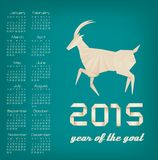 2015 year of the goat calendar. Vector Vector Illustration