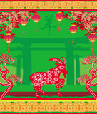 2015 year of the goat, Chinese Mid Autumn festival. Illustration Stock Photography