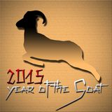 2015, Year of the Goat. In Chinese zodiac callendar Stock Illustration