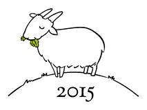 Year of the Goat Doodle for 2015 Stock Photos