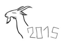 2015 - Year of the Goat. Stock Image