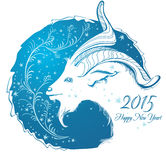 Year of goat. Happy new year 2015! Year of goat. Vector Illustration Royalty Free Stock Images