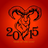 Year of the Goat. Illustration and design Royalty Free Stock Photo