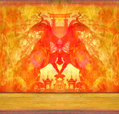 2015 year of the goat. Raster Illustrations Royalty Free Stock Photography