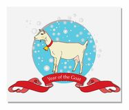 Year of the Goat. Template postcards Year of the Goat. vector Royalty Free Stock Image