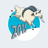 Year of the Goat. Vector illustration for the year of the goat Stock Image