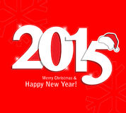 Year 2015. 2015 gold numbers text and decoration vector illustration