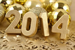 2014 year golden figures Stock Photos