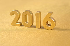 2016 year golden figures Royalty Free Stock Photography