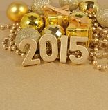 2015 year golden figures Royalty Free Stock Photo