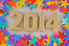 2014 year golden figures Stock Image