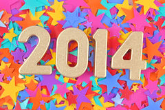 2014 year golden figures Royalty Free Stock Image