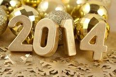 2014 year golden figures Stock Photos