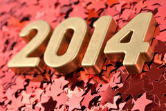 2014 year golden figures Stock Images