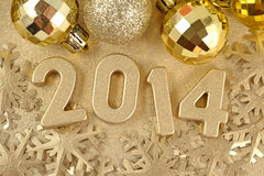 2014 year golden figures Royalty Free Stock Photos