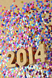 2014 year golden figures Stock Photo