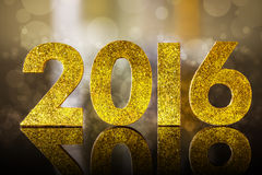 2016 year golden figures Stock Images