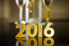 2016 year golden figures Stock Photo