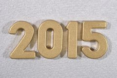 2015 year golden figures Stock Images