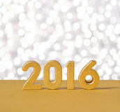 2016 year golden figures Royalty Free Stock Image