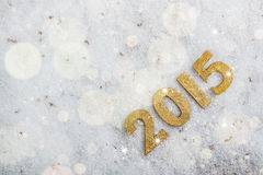 2015 year golden figures Royalty Free Stock Photography