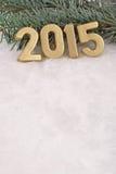 2015 year golden figures Stock Photos