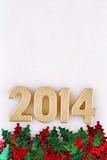 2014 year golden figures Stock Photo