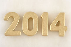 2014 year golden figures Royalty Free Stock Photography