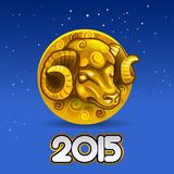 Year golden goat Royalty Free Stock Image