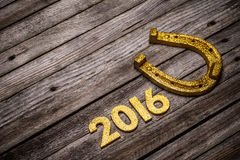 2016 year golden number Royalty Free Stock Image