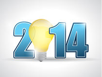 2014 year for great ideas. concept illustration. Design over a white background royalty free illustration