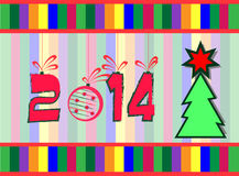 2014 year greeting card. Background Royalty Free Stock Images