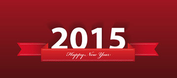2015 year greeting on red background. vector Royalty Free Stock Image