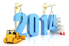 Year 2014 growth Royalty Free Stock Photos