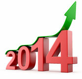 Year 2014 growth. On white isolated background Royalty Free Illustration
