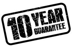 10 year guarantee Royalty Free Stock Photo