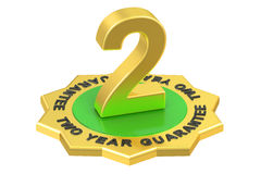 2 year guarantee label, 3D rendering. On white background Stock Image