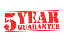 5 YEAR GUARANTEE. Rubber Stamp over a white background Stock Photography