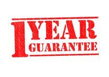 1 YEAR GUARANTEE Stock Photography