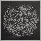 2015 year hand lettering and doodles elements Stock Photography