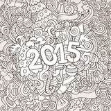 2015 year hand lettering and doodles elements. Background. Vector illustration royalty free illustration