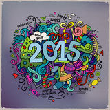 2015 year hand lettering and doodles elements. Background. Vector illustration Stock Photo