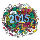 2015 year hand lettering and doodles elements. Background. Vector illustration stock illustration