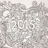 2015 year hand lettering and doodles elements. Background. Vector illustration Royalty Free Stock Photos