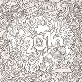 2016 year hand lettering and doodles elements. Background. Vector illustration Royalty Free Stock Photo