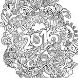 2016 year hand lettering and doodles elements. Background. Vector sketchy illustration Royalty Free Stock Photography